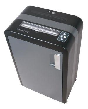 Skartovací stroj AT-60C řez 3,8x40mm, koš 35 l, až 20 listů A4 80g, CD i sponky