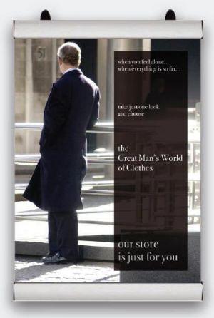Plakátová lišta Poster Snap 1000mm