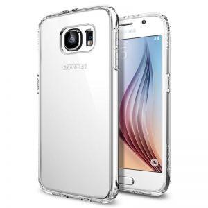 Průhledný ochranný - SPIGEN Ultra Hybrid, crystal clear - pro SAMSUNG Galaxy S6