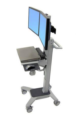 ERGOTRON Neo-FlexR Dual WideView WorkSpace, pojízdný multifunkční vozík, uchycení pro dva