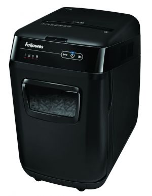 Skartovač FELLOWES AutoMax 200 , řez 4x38 mm, koš 32 l, až 10 listů A4 70g, CD i sponky