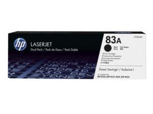 HP originální toner CF283AD, black, 2x1500str., 83A, HP LaserJet Pro M201, M202, MFP M127,