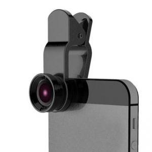 Čočka - přidavná optika na mobil s klipem plast/hliník 3v1 Makro / Širokouhlý / Rybí oko
