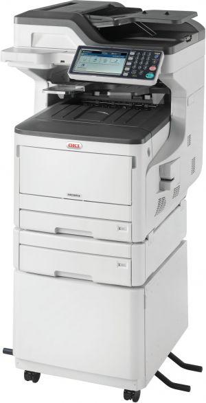 OKI MC853dnct A3 barevná LED multifunkční tiskárna 4v1 + druhá kazeta a stolek