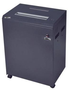 Skartovací stroj AT-120C řez 4x30mm, koš 140 l, až 28 listů A3 70g, CD, sponky, karty