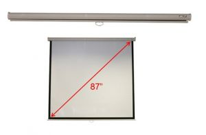 "Projekční plátno M87-S01MW 70""x70"" (1/1) Wall & Ceiling Matt White Manual"