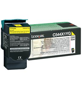 LEXMARK Tisková náplň return program na 4000 str. C544 X544 Yellow Extra Toner Cartridge