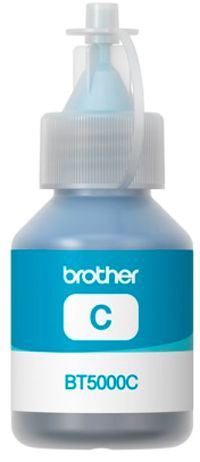 BROTHER originální modrý inkoust BT-5000C cyan 5000str., BROTHER DCP T300 T500W T700W