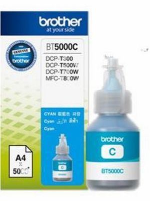 BROTHER BT-5000C originální inkoust modrý/cyan 5000str., BROTHER DCP T300 T500W T700W