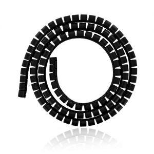 4WORLD Organizér kabelů průměr 34 mm 1,5m černý