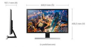 "Monitor SAMSUNG LED LCD 28"" U28E590 - TN, 3840x2160, 1ms, 370cd, DP, 2xHDMI"
