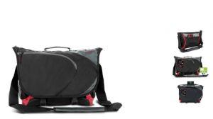 """Brašna na notebook do velikosti 16,1 """" ASCOPA messenger bag, black-red"""
