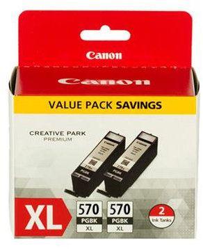 Orig. inkoustové náplně CANON PGI-570XL PGBK , 2-pack černý velký