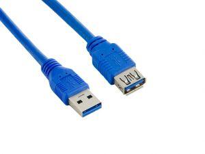 4WORLD Kabel USB 3.0 AM-AF 3.0m Blue