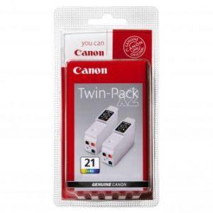 CANON originální barevný ink. cartridge BCI21C, 2x120str. 2ks CANON BJ-C4000 2000