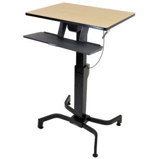 ERGOTRON WORKFIT-PD WOOD GRAIN FINISH, nastavitelný pracovní stůl, k sezení i stání