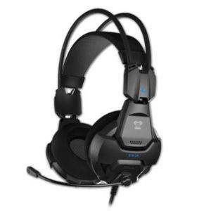 E-BLUE, Cobra HS, herní sluchátka s mikrofonem, ovládání hlasitosti, černá, 3.5 mm jack 2x