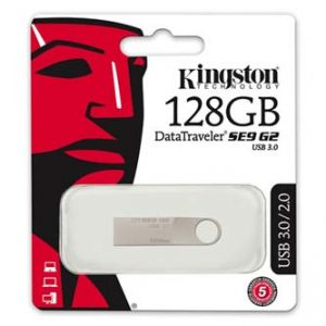KINGSTON USB flash disk 3.0 128GB Data Traveler SE9 G2, stříbrný, DTSE9G2/128GB, kovový