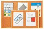korková tabule 60x80 cm , Economy - dřevěný rám, očko na zavěšení