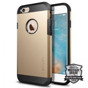 SPIGEN Tough ARMOR, champagne gold - telefonu pro APPLE iPhone 6 / 6s
