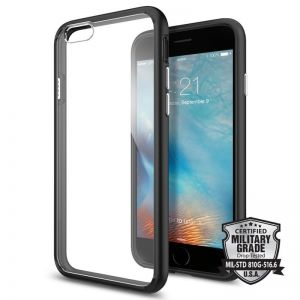 SPIGEN Ultra Hybrid, black - telefonu pro APPLE iPhone 6 / 6s
