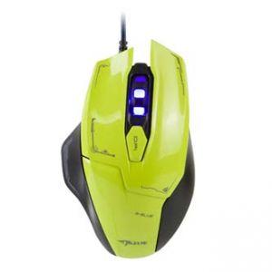 E-BLUE Myš Mazer optická , 6tl., 1 kolečko, drátová (USB), zelená, 2500dpi, herní