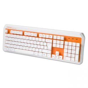 E-BLUE Klávesnice K738 , multimediální , oranžová , drátová (USB), US
