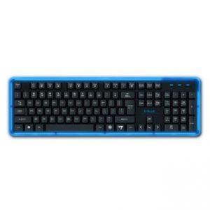 E-BLUE Klávesnice K734, multimediální, černá, drátová (USB), US, podsvícená