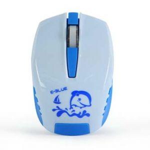 E-BLUE Myš Seico Minuscule 1 ks AA, 2.4 [GHz], optická 3tl., 1 kolečko, bezdrátová modrá