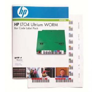 HP Ultrium 4 WORM , zelená , Q2010A , štítky s čárovým kódem