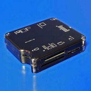 Čtečka karet (2.0) micro/SD/SDHC/SDXC/T-Flash/xD/MS/M2/CF, externí, černá, Windows 2000