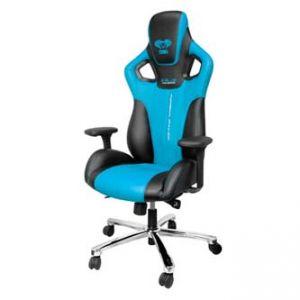 Herní židle E-BLUE COBRA modrá, na kolečkách, otáčecí, polohovací, sklopné opěradlo