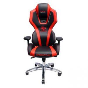 Herní židle E-BLUE AUROZA červená, podsvícená, na kolečkách, otáčecí, polohovací, sklopná