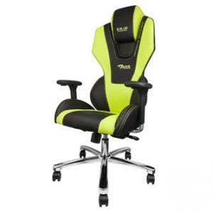 Herní židle E-BLUE MAZER zelená na kolečkách, otáčecí, polohovací, sklopné opěradlo