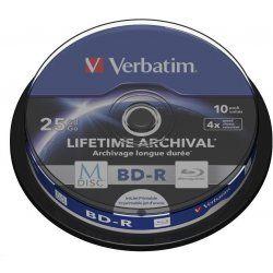 VERBATIM M-Disc BD-R DL ( 10-pack ) 25GB / 4x / spindle