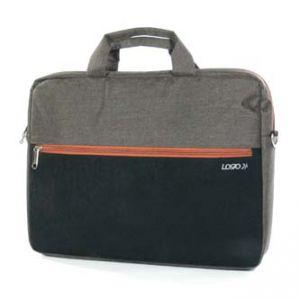 """Trendy taška na notebook , 15,6"""", s popruhem na rameno, hnědá z plátno/polyester, LOGO"""