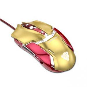 E-BLUE Myš IRON MAN ARMOR EMS610, optická, 6tl., 1 kolečko, drátová (USB), zlatá, 4000DPI
