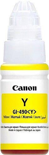 CANON originální ink GI-490 Y yellow, 7000str., 70ml, 0666C001, CANON PIXMA G1400, G2400,