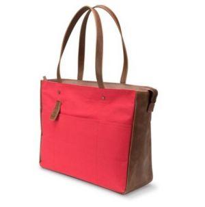 """Dámská taška na notebook, 14"""", luxusní doplňek, červeno-hnědá z canvasu, HP"""