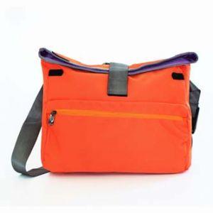 """Super lehká taška na notebook, 15,6"""", oranžová z polyesteru, s ramenním popruhem"""