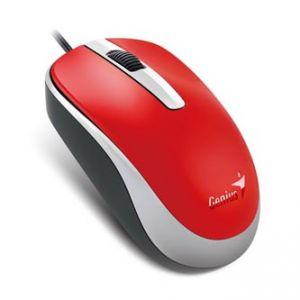 GENIUS Myš DX-120, optická, 3tl., 1 kolečko, drátová (USB), červená, 1, 200dpi, standardní