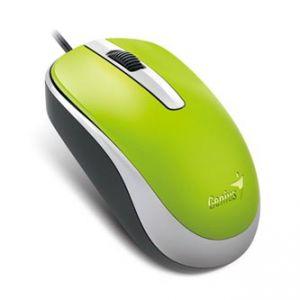 GENIUS Myš DX-120, optická, 3tl., 1 kolečko, drátová (USB), zelená, 12, 00dpi, standardní,