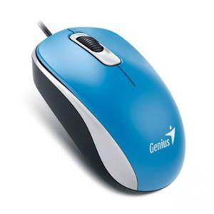 GENIUS Myš DX-120, optická, 3tl., 1 kolečko, drátová (USB), modrá, 1200DPI, standardní, un