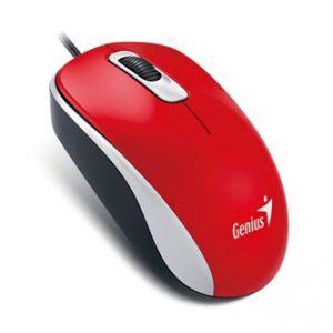 GENIUS Myš DX-110, optická, 3tl., 1 kolečko, drátová (USB), červená, 1000dpi, standardní,