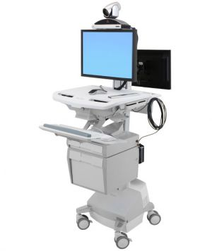ERGOTRON StyleViewR Telemedicine Cart, Back-to-Back Monitor, Powered, pojízdný stojan, NTB