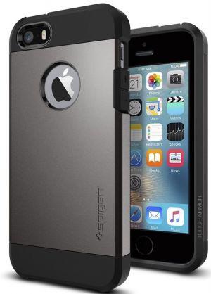 SPIGEN Tough ARMOR, gunmetal - pro APPLE iPhone SE / 5s / 5