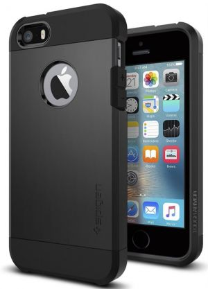 SPIGEN Tough ARMOR, black - pro APPLE iPhone SE / 5s / 5