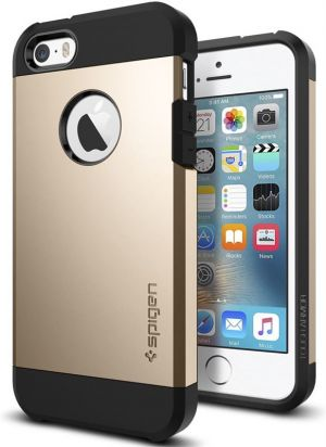 SPIGEN Tough ARMOR,champagne gold - pro APPLE iPhone SE / 5s / 5