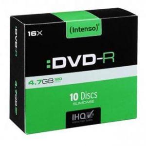 INTENSO DVD-R, 4101652, 10-pack, 4.7GB, 16x, 12cm, Standard, slim case, bez možnosti potis