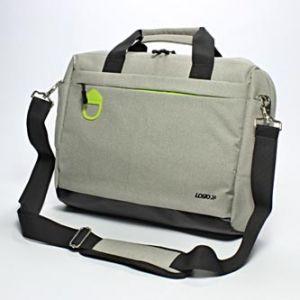 """LOGO Moderní taška na notebook, 15,6"""", šedá z polyesteru, s ramenním popruhem"""